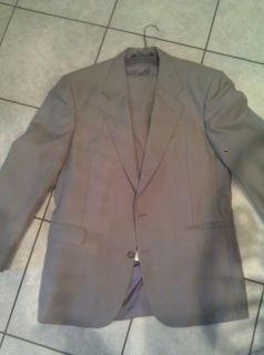 42R brown sage 2 button Kilburne Finch wool blend suit 36W x 32L