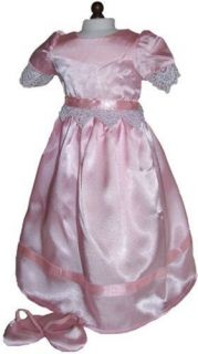 Doll Clothes Fit American Girl Pink Satin and Lace Nightgown Sippers