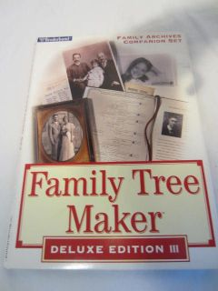 Broderbund Family Tree Maker Archives Companion Set CDs