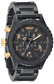Nixon The 4220 Chrono Watch in Matte Black Gold