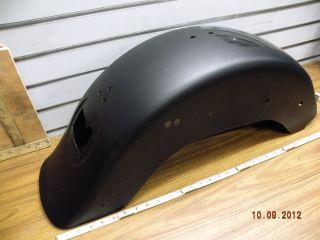 Rear Fender Denim Flat Black Harley Fatboy Dark Custom Wide Tire 9 1 2