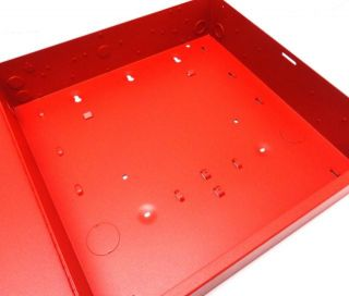 This fire alarm system control panel enclosure includes keys.