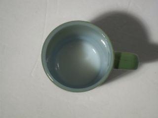 Vintage Anchor Hocking Fire King Stacking Coffee Mug Cup Green & Black