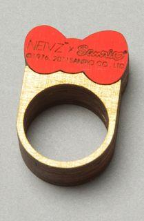 NEIVZ The Sanrio x Neivz Ministack Hello Kitty Bow Ring in Red