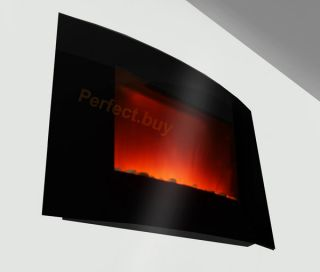 New Wall Mounted Electric Fireplace Control Remote Heater Firebox