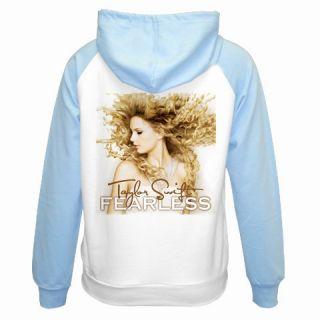 Taylor Swift Fearless Ladies Raglan Hoodie Jacket s XL