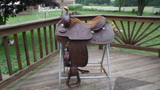 Saddle Western Tex Tan 15 inch Seat