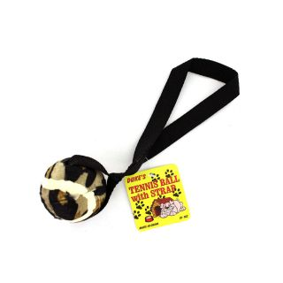 New Black Ball on Strap Dog Toys Wholesale Case Lot 75 FUN