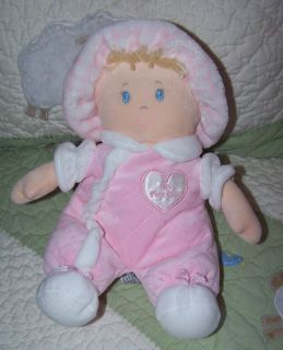 First Impressions Pink Plush My First Doll w Heart Baby Toy 11 Sewn