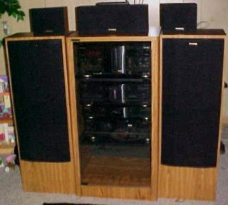 FISHER SURROUND SOUND DOLBY STEREO SYSTEM SET 2 SUBWOOFERS AMPLIFIER