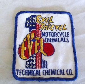 Evel Knievel 1970s Motorcycle Chemical Co Patch RARE Patch not A Decal