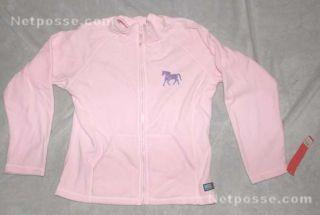 NEW Pink Equestrian Womens Lightweight Micro Fleece Jacket / Purple