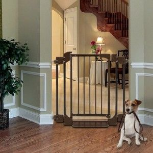 Deluxe Expandable Hallway Doorway Pet Dog Gate Fence R94183