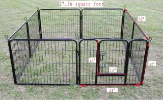 32 Heavy Duty Pet Playpen Dog Exercise Pen Cat Fence