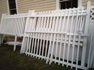 White Vinyl Picket Fence