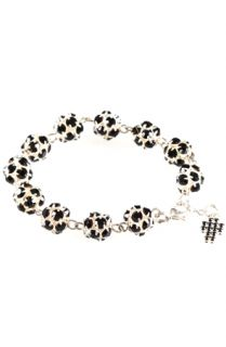 Rosaries Black and Silver Crystal Rhinestone Rosary Bracelet