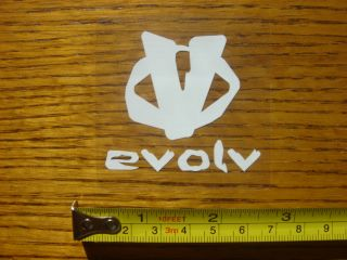 evolv climbing shoes stickers decal new this auction is for the evolv