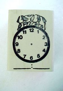 Teaching Clock Wood Mounted Rubber Stamp by Fearless Design