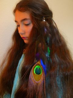 Feather Hair Extension Clip In B 143 Large Peacock Multi Color