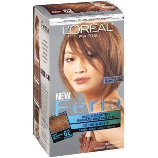 Loreal Feria 62 Iced Mocha Light Iridescent Brown Color