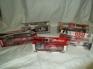 is a Lot of 5 New in Box Collectible Ohio State Tractor Trailers