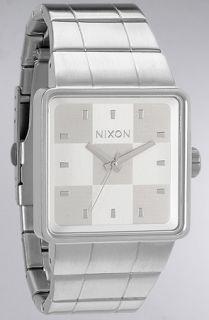 Nixon The Quatro Watch in White Concrete