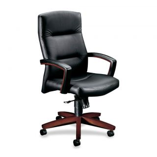 ... Avenue Collection Executive High Back Swivel Chair Mahogany; Lorell ...