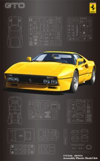 Fujimi SC16 Ferrari 288 GTO Yellow Body 1 16 Scale Kit