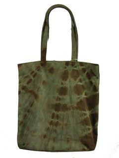 Julie Feldman Designs Lynn Green Brown Tie Dye Suede Leather Hobo Bag