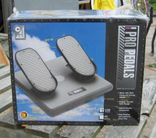 Flight Simulator foot pedals feature realistic three axes movement