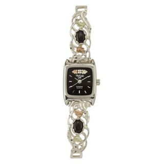 Black Hills Gold Ladies Onyx Silver Expansion Watch