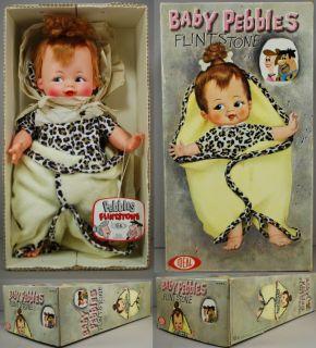 Flintstones 1963 Baby PEBBLES 15 Doll w Blanket MIB Ideal NRFB w Tag