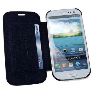 Handmade Genuine Real Leather Flip Cover Case for SAMSUNG Galaxy S3 S