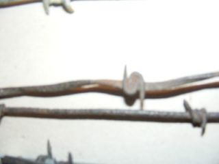 10 Barbed Barb Wire Fence Pieces Merrill Buffalo Glidden Oliver Arrow