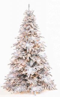 Pre Lit Christmas Tree Pagoda Snow Frost Flocked