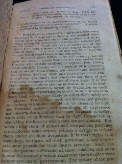 1811 RARE American Revolution Revolutionary War History Book Antique