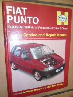 FIAT PUNTO PETROL AND DIESEL ENGINES WORKSHOP MANUAL HAYNES 8 16 VALVE