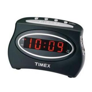 Timex Extra Loud LED Alarm Clock Buzzer Black Digital