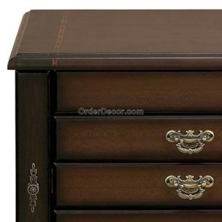 30 Jewelry Box Armoire w Mirror Standing Wood Wooden
