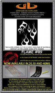 Flame B9 airbrush stencil template harley paint ~ NEW DESIGN