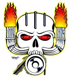 Skull Blower supercharger Flame Zoomies Stacks T Shirt