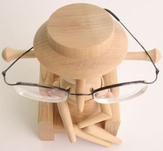 Wood Lady Eyeglass Holder Eyeglass Stand Made in Japan Home Decor Home