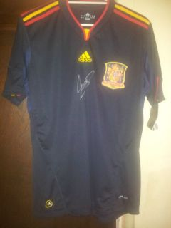 Fernando Torres Signed Spanish Soccer Shirt Jersey with COA