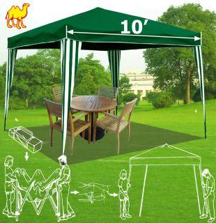 New Green 10x10 EZ Pop Up Party Tent Gazebo Canopy