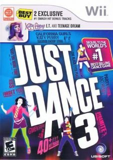 Just Dance 3 Wii 2011 with Best Buy 2 Exclusive Smash Hit Bonus Tracks