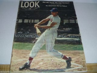 Ted Williams Boston Red Sox Look Magazine Oct 15 1946