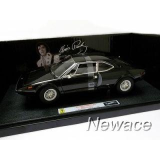 Ferrari Dino 308 GT4 Black Elvis Presley Elite Hotwheels 1 18 V7425