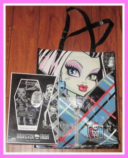 MONSTER HIGH SDCC 2010 FRANKIE STEIN DOLL BLACK & WHITE MIB BAG & MORE