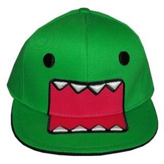 Domo Kun Green Face Japan Adjustable Flat Bill Hat Cap