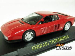 Ferrari Testarossa 1984 1 43 Scale Model Car in Red Toy Car Great Gift